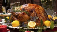 Buttermilk brined roast crown of turkey - A delicious twist on the classic Christmas turkey with orange and rosemary.