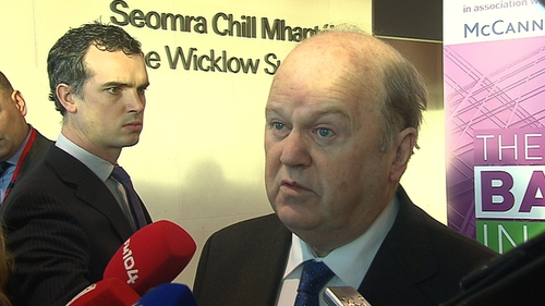 Michael Noonan says that the improvement in the economy is picking up