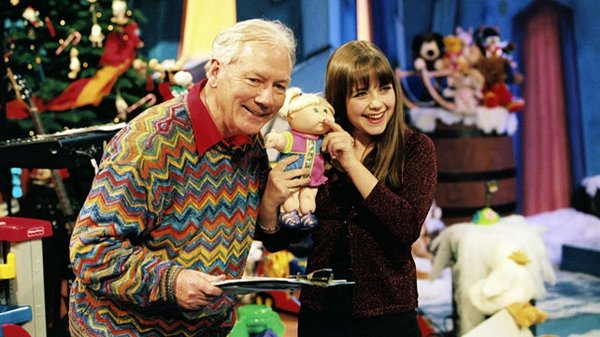 Gay Byrne and Charlotte Church on The Late Late Toy Show in 1998
