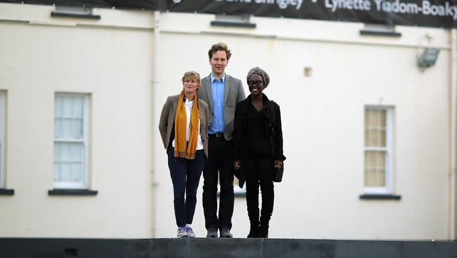 Turner Prize winner Laure Prououst (left) pictured with nominees David Shrigley and Lynette Yiadom-Boake