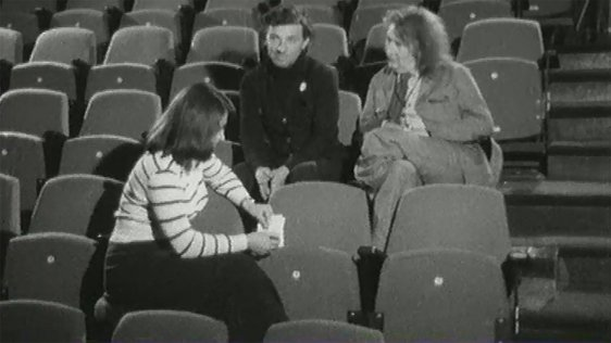 Doireann Ní Bhriain, James McKenna and Alan Simpson at the Abbey Theatre, 1973.