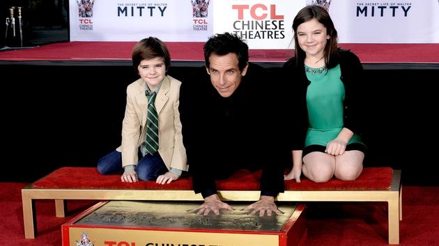 Ben Stiller with children, Quinlan and Ella