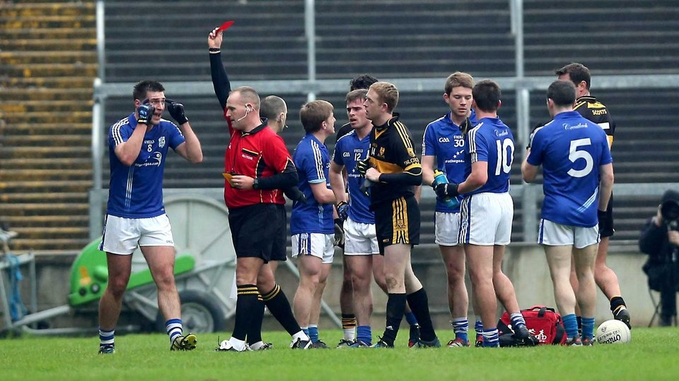 Dr Crokes' Colm Cooper get his marching orders in the Munster club final against Cratloe