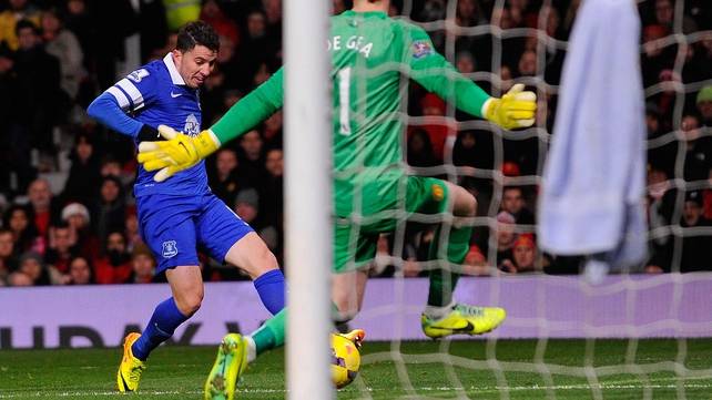 Bryan Oviedo slots home the winner past David de Gea