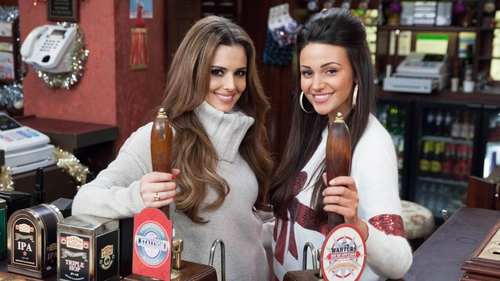 Cheryl Cole and Michelle Keegan in the Rovers Return