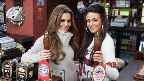 Cheryl Cole pops into the Rovers for a pint this Christmas