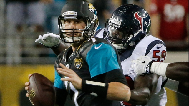Jacksonville's Chad Henne was on top of his game against Houston