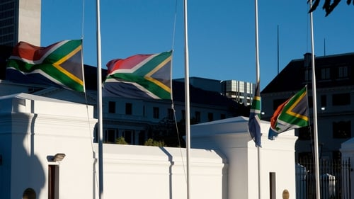Flags fly at half-mast across South African