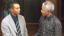 Tiger Woods pays tribute to the late Nelson Mandela.
