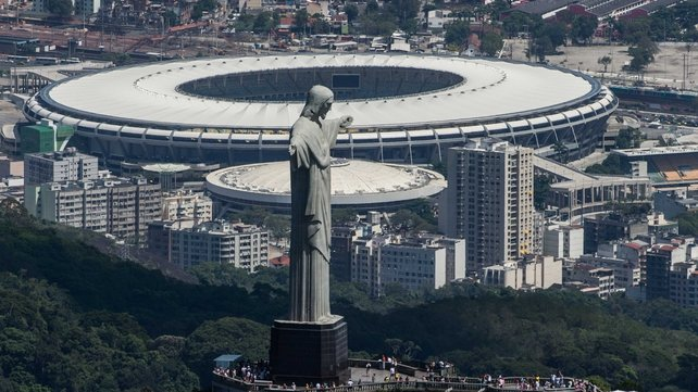 A view of the Maracana Stadium in Rio where the World Cup final will take place on 13 July next