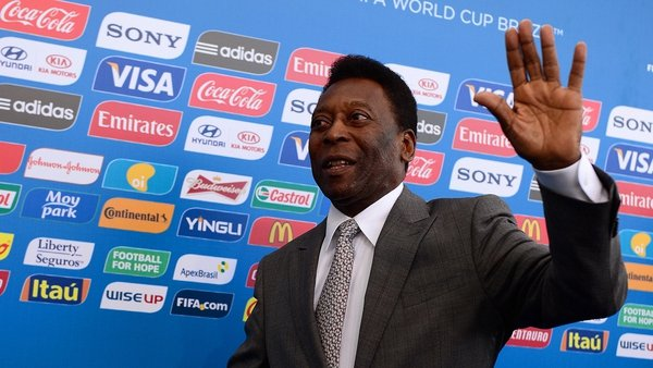 Pele pictured at the World Cup draw back in 2014