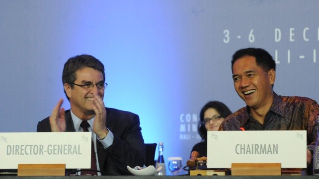 Agreement struck before the closing ceremony of the WTO conference in Bali