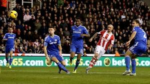 Stephen Ireland in action for Stoke against Chelsea
