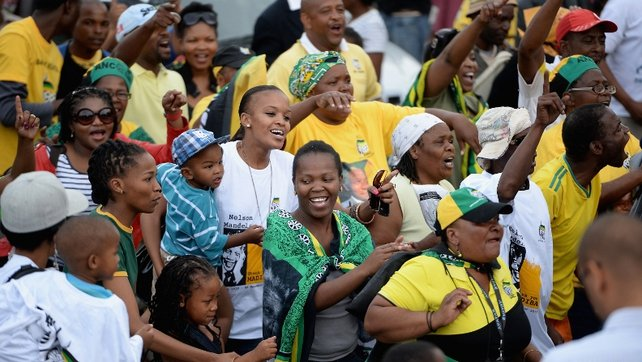 ANC supporters sing and dance to celebrate life of Nelson Mandela