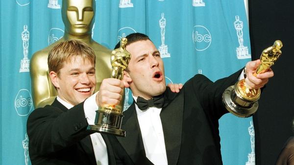 Matt Damon and Ben Affleck at the 1998 Academy Awards