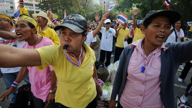 Protesters have vowed to oust Yingluck Shinawatra and end the influence of her brother