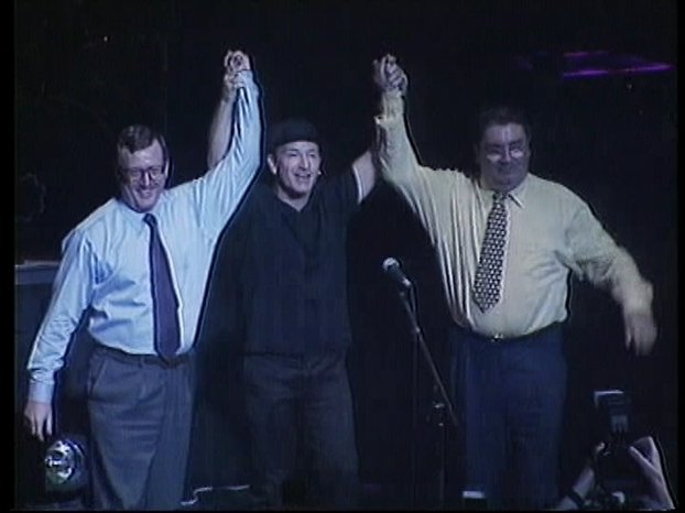Bono with David Trimble and John Hume (May 1998)