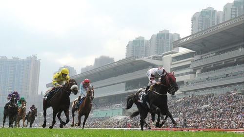 Dominant recorded a first ever win in Group One company in the Hong Kong Vase