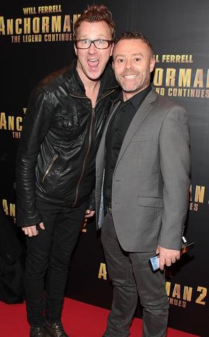 Comedians Jason Byrne and Eric Lalor
