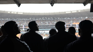Poor weather meant the size of the crowd was reduced in the Soweto stadium