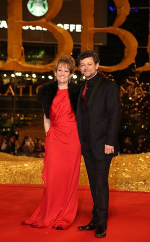 Andy Serkis and his wife Lorraine  © Facebook