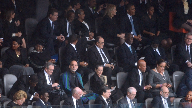 World leaders joined tens of thousands of South Africans at the memorial service