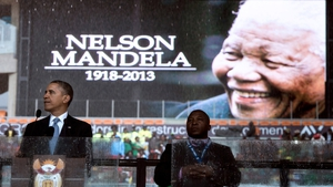 Barack Obama of Mr Mandela - 'He was not a bust made of marble, he was a man of flesh and blood. He was a son, a husband, father and friend'