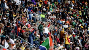 Thousands braved the rain to voice their admiration and support for Mr Mandela