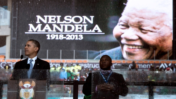 US President Barack Obama said Nelson Mandela was a 'giant of history'