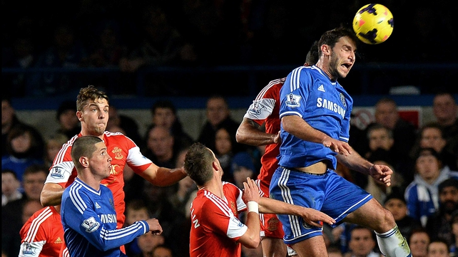 Branislav Ivanovic climbs highest against Southampton