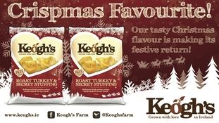 Win! A Keogh's Roast Turkey and Stuffing crisp hamper!
