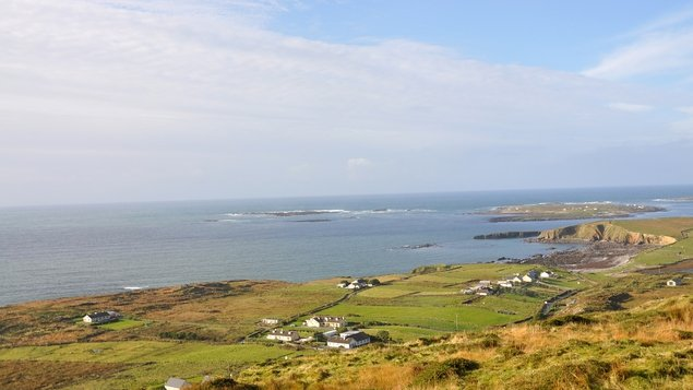 The view of the Atlantic Ocean from the Sky Road, Clifden