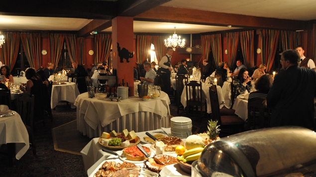 Dining at Abbeyglen is a sumptuous experience
