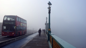 Fog caused travel disruption and delays in London with more than 70 flight cancellations