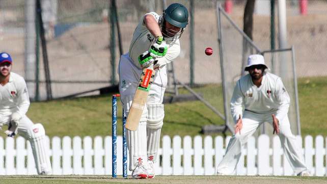 William Porterfield hit 34 as Ireland gained the upper hand in Dubai