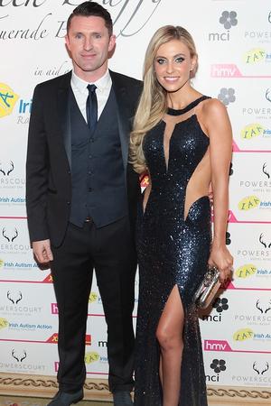 Robbie Keane and Claudine Keane