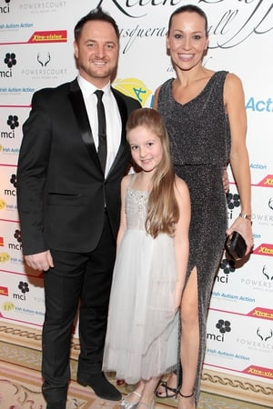 Mikey Graham with wife Karen and daughter Sienna Graham