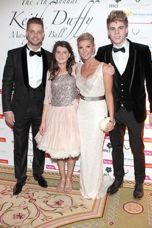 Keith Duffy, Lisa Duffy with kids Mia Duffy and Jay Duffy