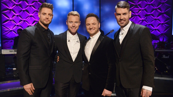 Keith Duffy, Ronan Keating, Mikey Graham and Shane Lynch of Boyzone