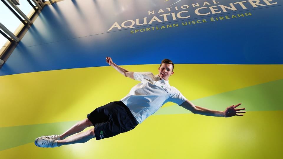 Irish swimmer Brendan Hyland before departure for the European Short Course Championships in Denmark