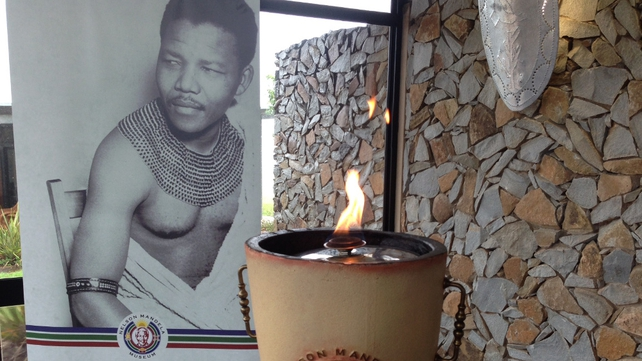 Flame burning at the Nelson Mandela Museum in Qunu (Pic: Fran McNulty)