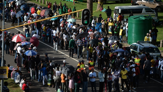 Thousands of South Africans queued to pay their respects