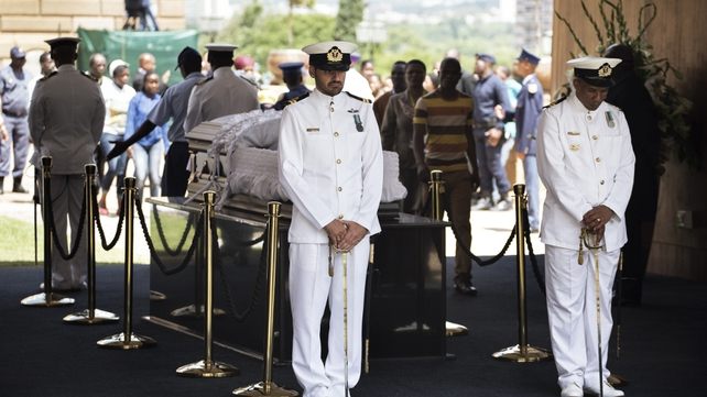 Nelson Mandela's body is lying in state at Union Buildings in Pretoria