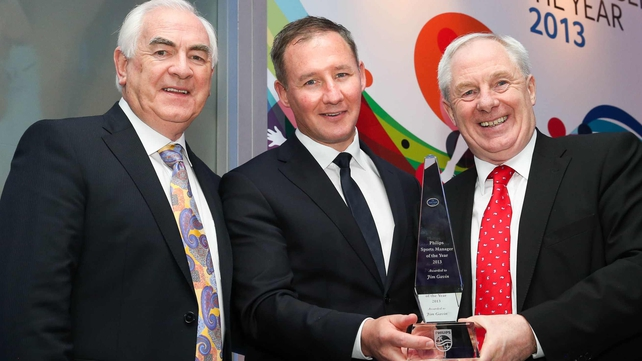 Jim Gavin collecting his award