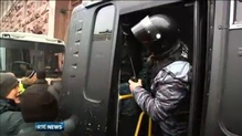 Riot police retreat from protest camp in Kiev