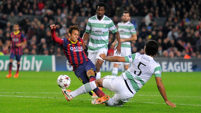 Neymar helped his side put Celtic to the sword