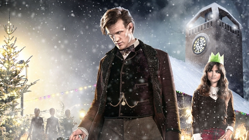 Matt Smith departed Doctor Who on Christmas Day - in a town called Christmas!