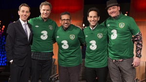 Anchorman stars Ferrell, Carell, Rudd and Koechner join Ryan Tubridy - Mirth and mischief on Friday night