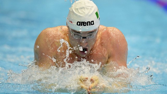 Barry Murphy finished 15th in the 100m breaststroke