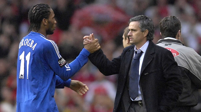 Didier Drogba and Jose Mourinho won numerous trophies together at Chelsea